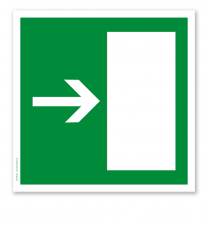 Rettungszeichen Notausgang rechts / links (alte Norm)