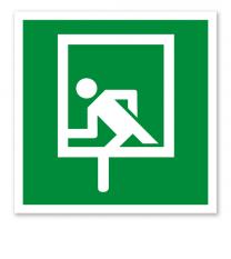 Rettungszeichen Notausstieg (alte Norm)