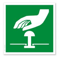 Rettungszeichen Not-Halt-Knopf nach DIN EN ISO 7010 - E 020