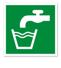 Rettungszeichen Trinkwasser nach DIN EN ISO 7010 - E 015