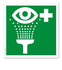 Rettungszeichen Augenspüleinrichtung nach DIN EN ISO 7010 - E 011