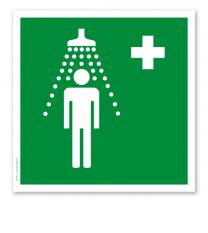 Rettungszeichen Notdusche (alte Norm)