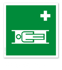 Rettungszeichen Krankentrage (alte Norm)