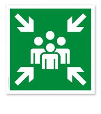Rettungszeichen Sammelstelle (alte Norm)