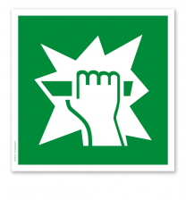 Rettungszeichen Notausstiegsvorrichtung (alte Norm)