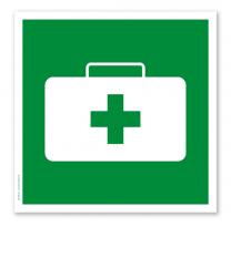 Rettungszeichen Verbandskasten (alte Norm)