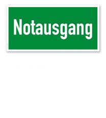 Fluchtwegschild Rettungsweg / Notausgang