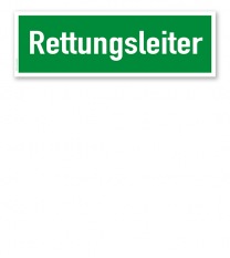Fluchtwegschild / Rettungsschild Rettungsleiter