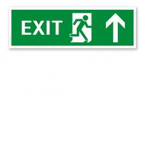 Fluchtwegschild / Rettungsschild Exit aufwärts