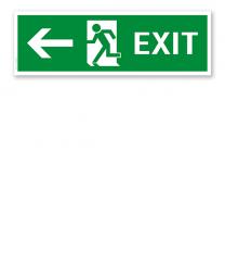 Fluchtwegschild / Rettungsschild Exit links