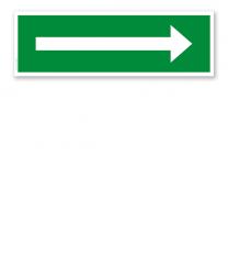 Fluchtwegschild / Rettungsschild Richtungsangabe Pfeil