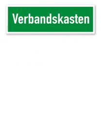 Fluchtwegschild / Rettungsschild Verbandskasten