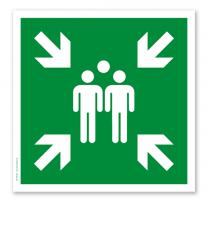 Rettungszeichen Sammelstelle nach DIN EN ISO 7010 - E 007