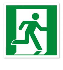 Rettungszeichen Notausgang rechts nach DIN EN ISO 7010 - E 002