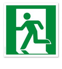 Rettungszeichen Notausgang links nach DIN EN ISO 7010 - E 001