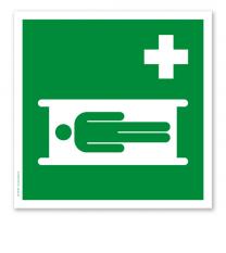 Rettungszeichen Krankentrage nach DIN EN ISO 7010 - E 013