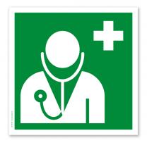 Rettungszeichen Arzt nach DIN EN ISO 7010 - E 013