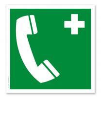 Rettungszeichen Notruftelefon nach DIN EN ISO 7010 - E 004