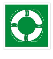 Rettungszeichen Öffentliche Rettungsausrüstung nach DIN 4844-2 - WSE 001