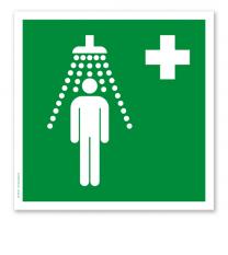 Rettungszeichen Notdusche nach DIN EN ISO 7010 - E 004
