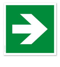 Rettungszeichen Richtungsangabe links / rechts nach DIN EN ISO 7010