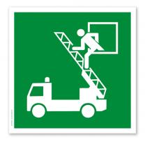 Rettungszeichen Rettungsausstieg nach DIN EN ISO 7010 - D-E 017
