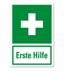 Rettungszeichen Erste Hilfe praxisbewährt - Kombi