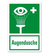 Rettungszeichen Augendusche nach BGV A8 - E06 - Kombi