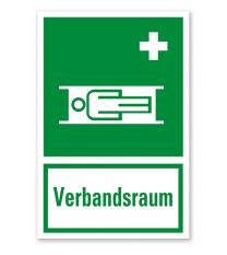 Rettungszeichen Verbandsraum nach BGV A8 - E013 - Kombi