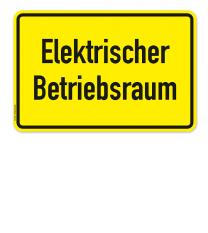 Textschild Elektrischer Betriebsraum