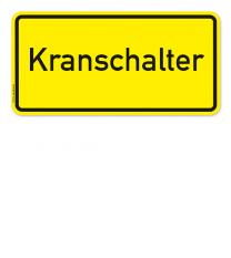 Textschild Kranschalter