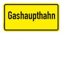 Textschild Gashaupthahn