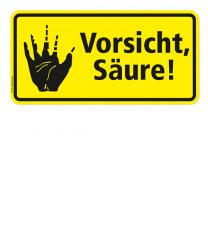 Warnschild Vorsicht, Säure! - 2