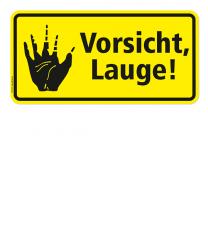 Warnschild Vorsicht, Lauge! - 2