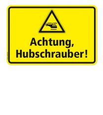 Warnschild Achtung - Hubschrauber (Helikopter)