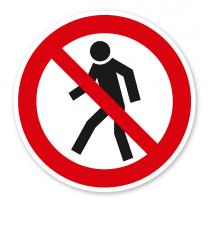 Verbotszeichen Für Fußgänger verboten nach BGV A8 - P03