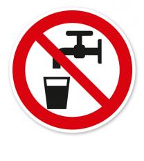 Verbotszeichen Kein Trinkwasser nach BGV A8 - P05