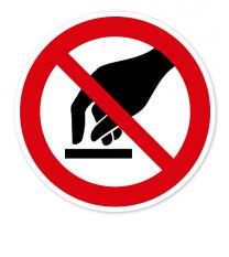 Verbotszeichen Berühren verboten nach BGV A8 - P08