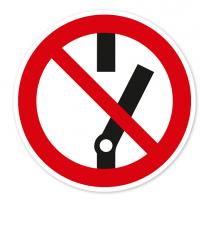Verbotszeichen Nicht schalten nach BGV A8 - P10