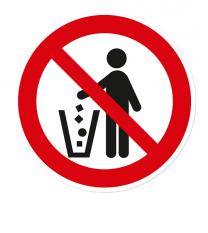 Verbotszeichen Abfälle einwerfen verboten