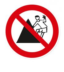 Verbotszeichen Auf Denkmäler klettern verboten