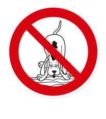 Verbotszeichen Keine Wasserstelle für Hunde