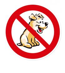 Verbotszeichen Für Hunde verboten