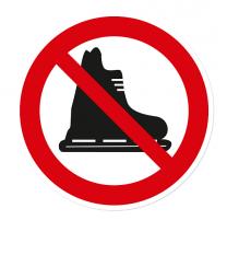 Verbotszeichen Schlittschuhlaufen verboten