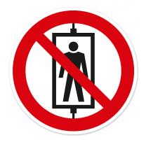 Verbotszeichen Personenbeförderung (Seilfahrt) verboten nach BGV A8 - P13
