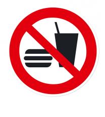 Verbotszeichen Essen und Trinken verboten nach DIN EN ISO 7010 - P 022