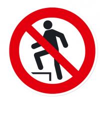 Verbotszeichen Aufsteigen verboten nach DIN EN ISO 7010 - P 019