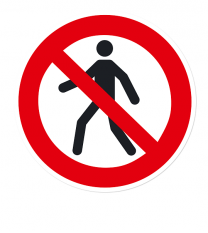 Verbotszeichen Für Fußgänger verboten nach DIN EN ISO 7010 - P 004