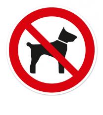 Verbotszeichen Mitführen von Tieren verboten nach BGV A8 - P14