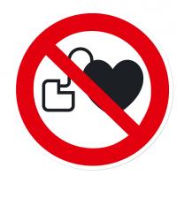 Verbotszeichen Kein Zutritt für Personen mit Herzschrittmachern nach DIN EN ISO 7010 - P 007